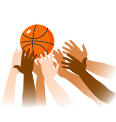 basketball game moment closeup vector image vector image