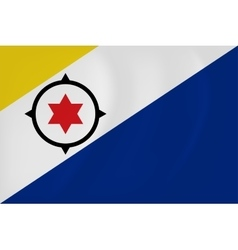 Bonaire waving flag vector