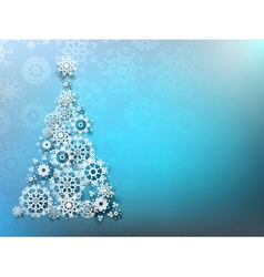 Christmas Background with paper snowflakes EPS 10 vector image