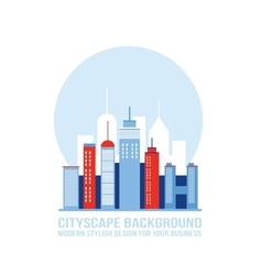 Cityscape background City building silhouettes vector image