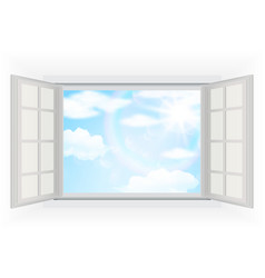 Clouds and blue sky background vector image vector image