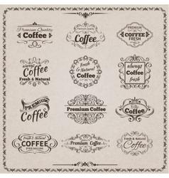 Coffee emblem set vector