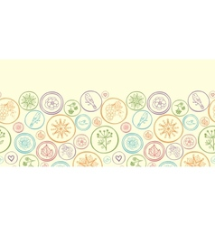 Colorful circles horizontal seamless pattern vector image vector image