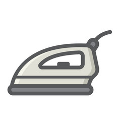 Electric iron colorful line icon household vector