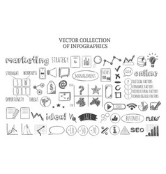 Infographic marketing strategy icons set vector