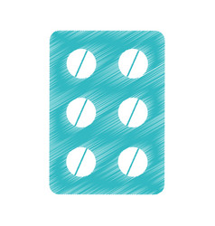 Medical drugs isolated icon vector