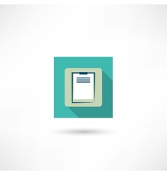 office tablet icon vector image vector image