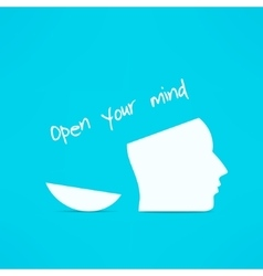Open your mind design Free your mind Creative vector image vector image
