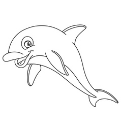 Outlined dolphin vector