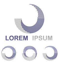 Purple water spa health and wellness symbol set vector