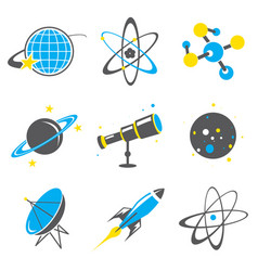Science stuff icon universe solar planet vector