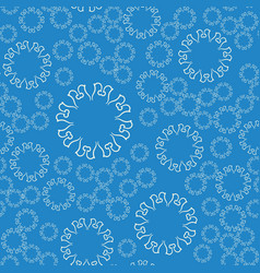 Seamless blue flower mandala for print on textile vector