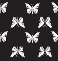 Seamless pattern with flying butterflies vector image vector image