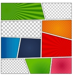 Set of comic book backgrounds vector