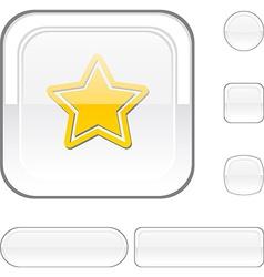 Star white button vector