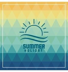 Summer design icon polygon graphic vector image vector image