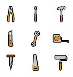 tool icon vector image vector image