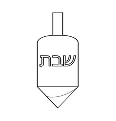 Traditional jewish dreidel icon vector