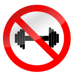 Weight lifting ban vector