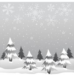 winter merry christmas vector image