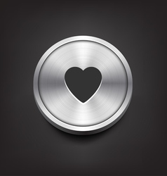 Metal heart icon vector