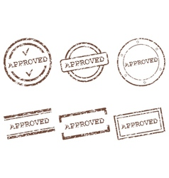 Approved stamps vector