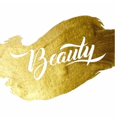 Beauty gold foil lettering poster typographical vector