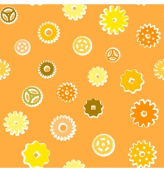 Vintage gear seamless pattern vector