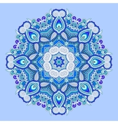 blue beautiful vintage circular pattern of vector image