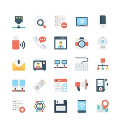 Network and communications icons 3 vector