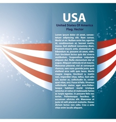 Background with USA stripes and text space vector image