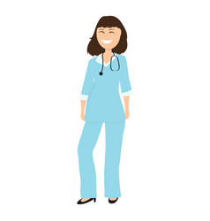 Female doctor pediatrician in hospital vector