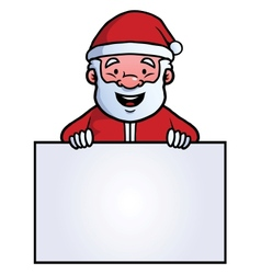 Santa claus holding a blank sign vector