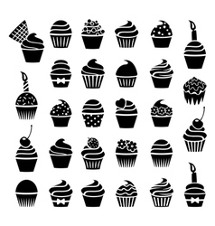 Cupcake symbols vector