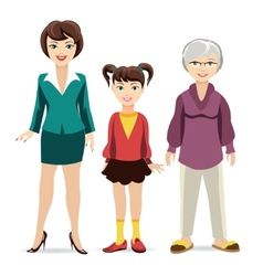 Three ages of women daughter mother and vector