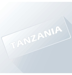 Tanzania unique button vector