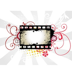 Photo reel art vector image