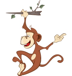 Cheerful monkey cartoon vector