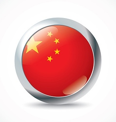 China flag button vector