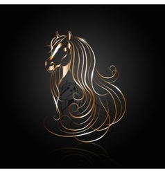 Copper abstract horse vector