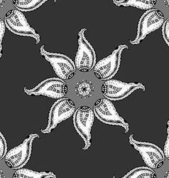 Oriental monochrome ornament vector
