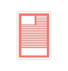 Paper sticker on white background document vector