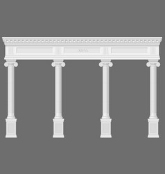 Antique white colonnade vector