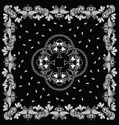 Bandana black white vector