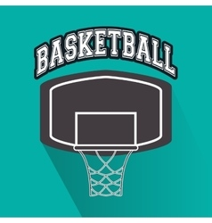 Basket of basketball sport design vector