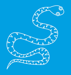 Black snake wriggling icon outline style vector