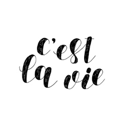 C est la vie that is life brush lettering vector