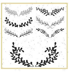 Collection of hand drawn floral borders and vector