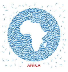 Decorations map of africa vector