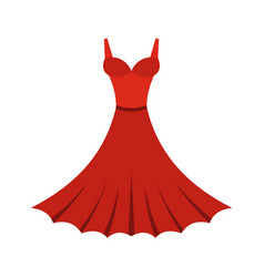 dress icon flat style vector image